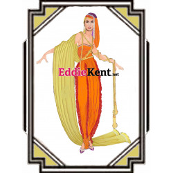 Cher Dark Lady kitchen towel