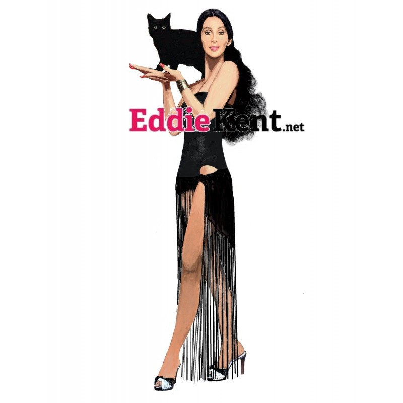Tom Jones Black leather magnet